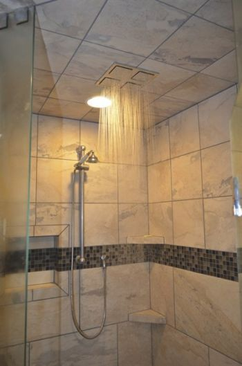 Digital Art Gallery Bathroom remodel includes rain shower Angies List View more bathroom remodeling at http