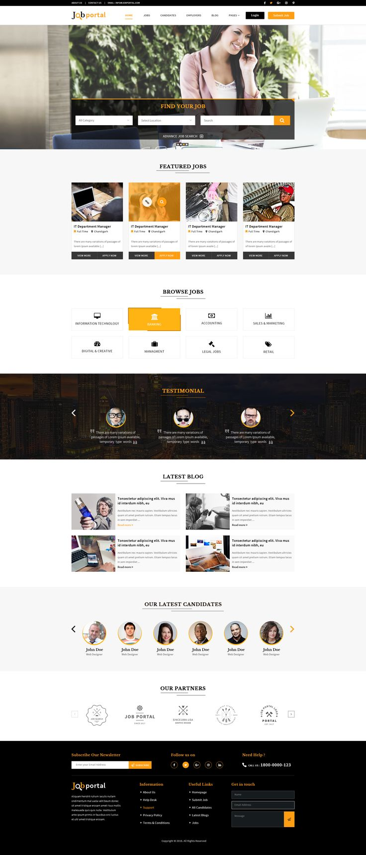 best ideas about job portal website layout food job portal psd template
