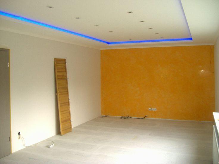 indirekte beleuchtung mit farbigen lampen stuck. Black Bedroom Furniture Sets. Home Design Ideas