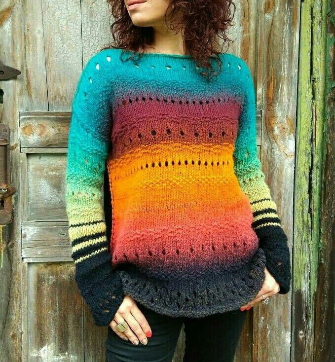 Excited to share the latest addition to my #etsy shop: Rainbow Gift For Her | Colorful Sweater | Chunky Sweater | Oversize Pullover | Grunge Knit Sweater, Loose Knit Sweater, One Shoulder Sweater #rainbow #colorfulsweater http://etsy.me/2ypUctB