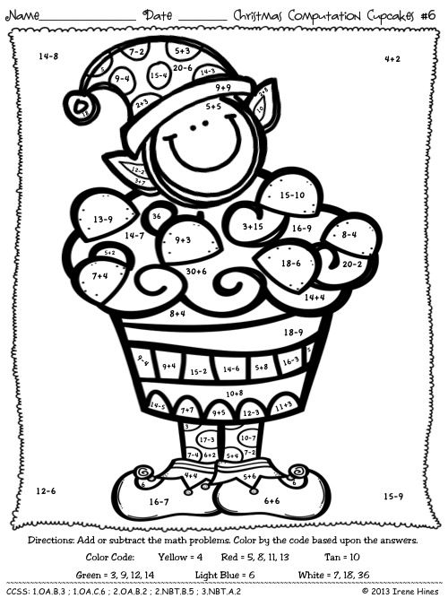 Math Coloring Pages 6th Grade : Best 25 christmas math worksheets ideas on pinterest