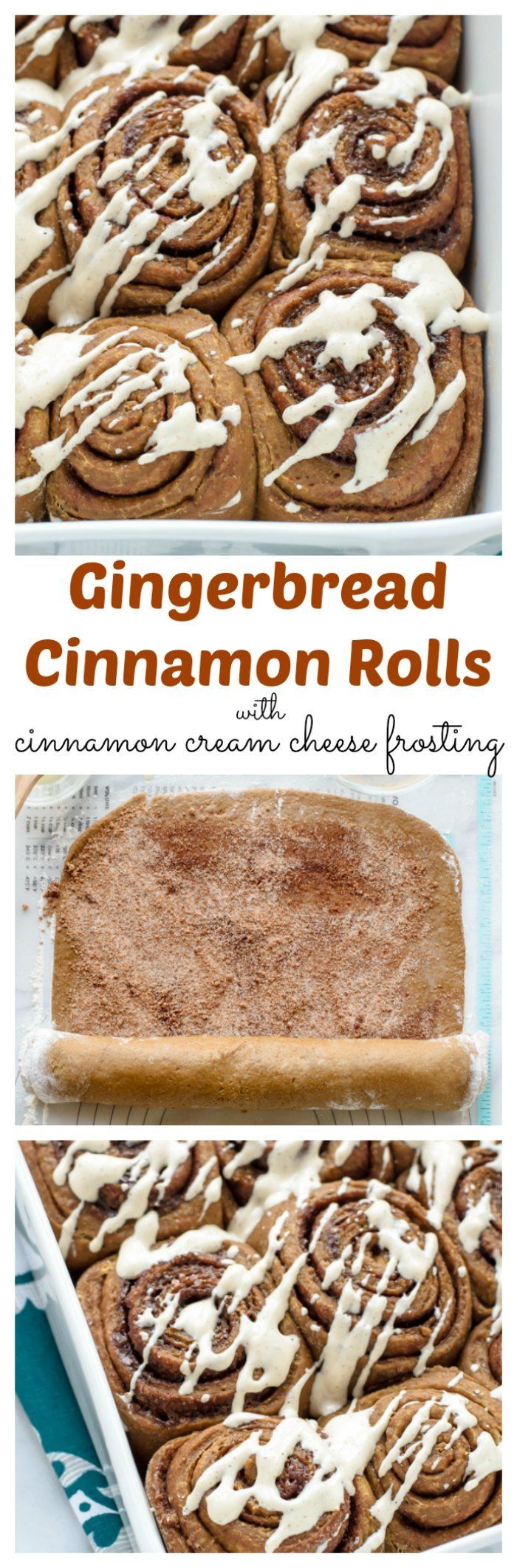 Fluffy, buttery cinnamon rolls that taste just like gingerbread cookies! This recipe can be prepped the night before, so all you need to do in the morning is bake. Perfect for holiday breakfast and brunch.