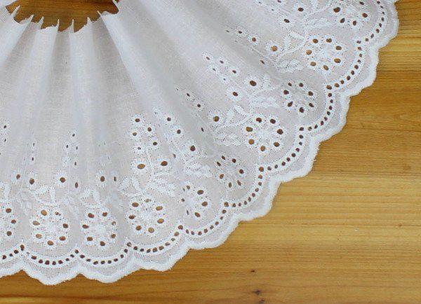 Koronka bawełniana szer. 12,0 cm - tailors_emporium - Wstążki i tasiemki