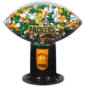 Green Bay Packers Football Snack Dispenser at the Packers Pro Shop http://www.packersproshop.com/sku/2008039063/