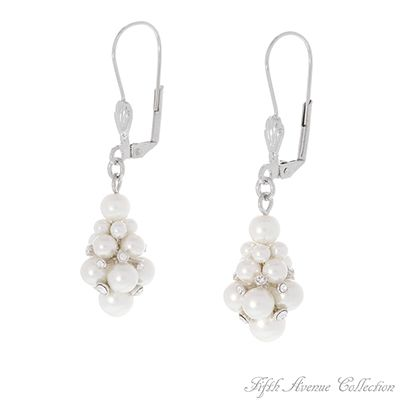 """""""Unmatched"""" They swing, they sway, they sparkle!  These lovely drop pearl earrings sprinkled with Swarovski crystal add a striking burst of """"Unmatched"""" glamour to any outfit!    Earrings with sterling silver hooks or adjustable hooks  Lead and nickel free £39"""