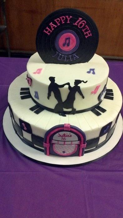 50s Themed Birthday Cakes
