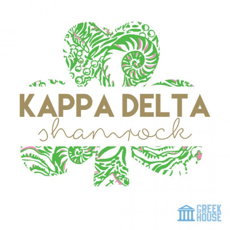 Kappa Delta Shamrock T-Shirt Design Gallery | Greek House | Kappa Delta | KD | Shamrock | Sorority | Greek Life | T-Shirt