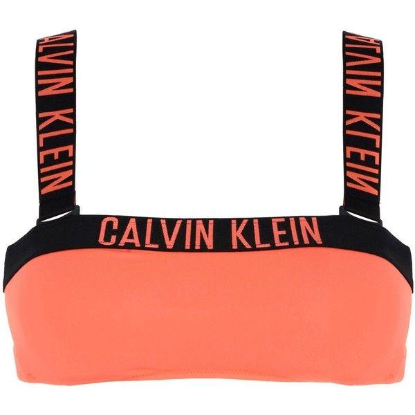 Calvin Klein Bikini Top (981.105 IDR) ❤ liked on Polyvore featuring swimwear, bikinis, bikini tops, orange, orange jersey, orange swimwear, calvin klein, calvin klein bikini top and calvin klein bikini