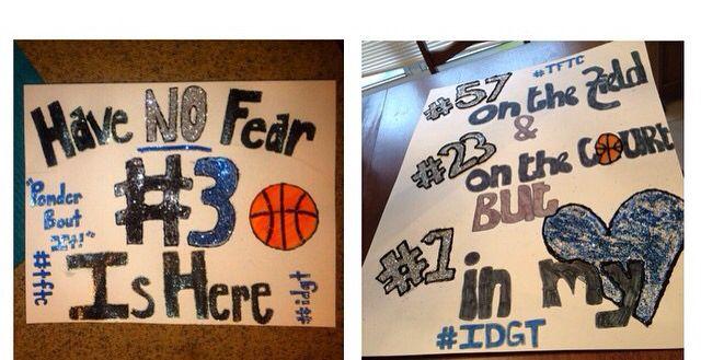 Basketball sign ideas for high school