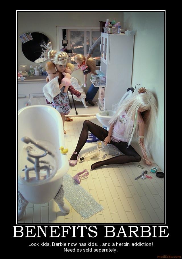trailer-trash Barbie
