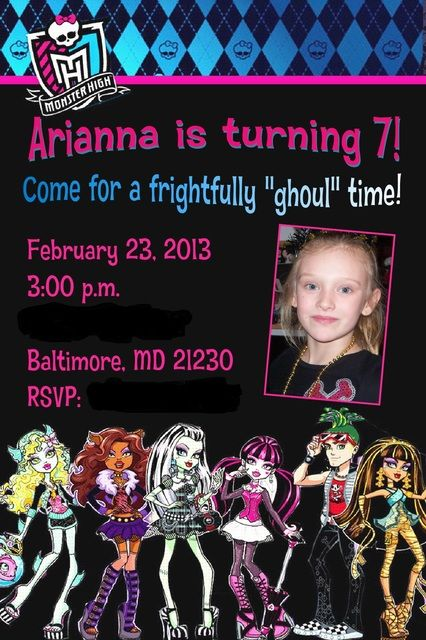 Monster High Birthday Party Ideas | Photo 1 of 40 | Catch My Party