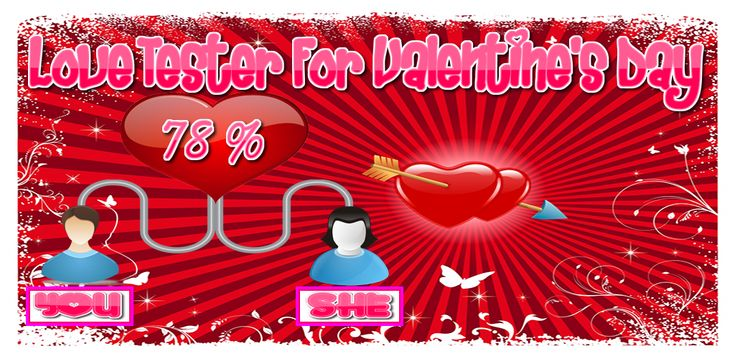 Calculate your love percentage with love calculator by name & date of birth ! love calculator by name is a love detector and tester lets you test love percentage for free . have fun with your lover at Valentine's Day 2018 !! .  love calculator by name 2018 has also other features to discover like : love tester by names :  Love test by birth date  Zodiac love test Love Days Counter Horoscope matching  check it out : https://play.google.com/store/apps/details?id=love.tester.calculator.detector