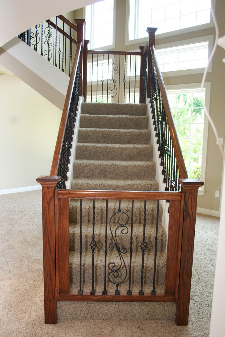 Dressing Up The Lower Level Custome Gate Top Of Stairs Or