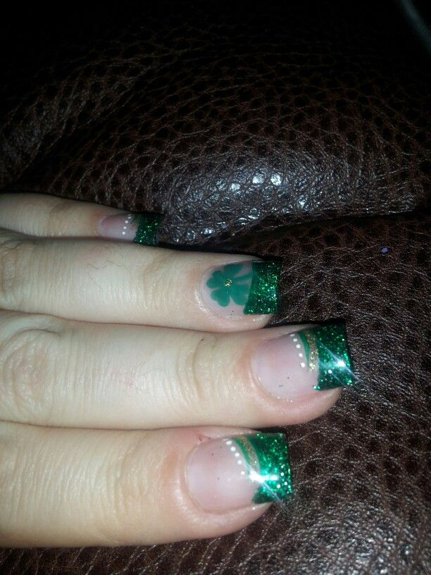 St. pattys day nails 2016