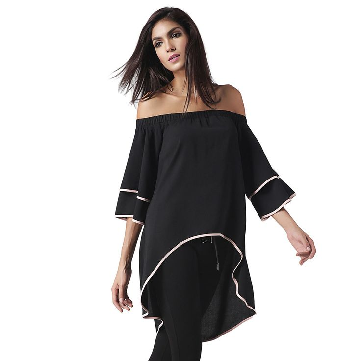 Trendy Black Binding Off Shoulder Tunic top👕 SALE Upto 50% OFF. LIMITED TIME OFFER HURRY UP! ⏰⏰⏰  Cash on Delivery available All Over India Comment YES if you want One🤗🤗 #black #fashionable #womes #tops #sale #onlineshopping