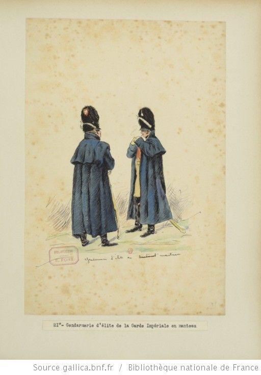 [Grenadiers-gendarmes, gendarmerie d'élite de la garde des consuls et de la garde impériale, 1793-1815 / Notes et aquarelles par E. Fort.] - 35