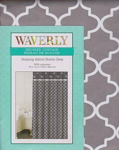 ... Grey White Lattice Dragonfly Dragonflies Fabric Shower Curtain   eBay