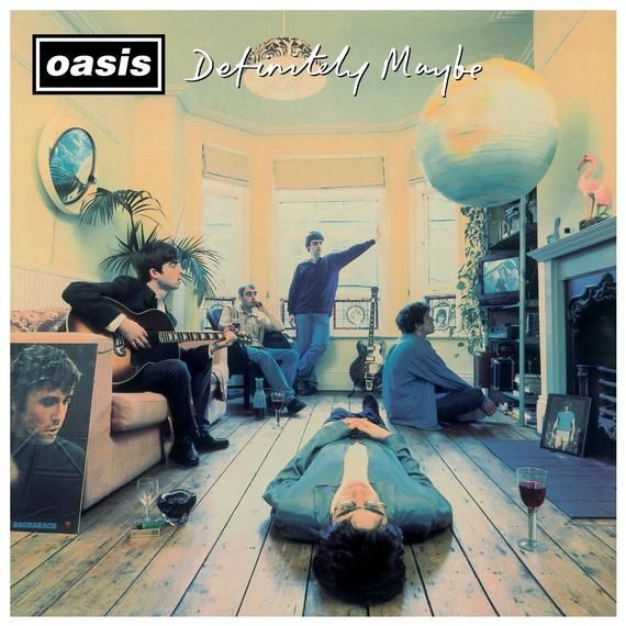 Oasis Definitely Maybe Poster Print With Black Card Frame And Mount Definitely Maybe Greatest Album Covers Oasis Album