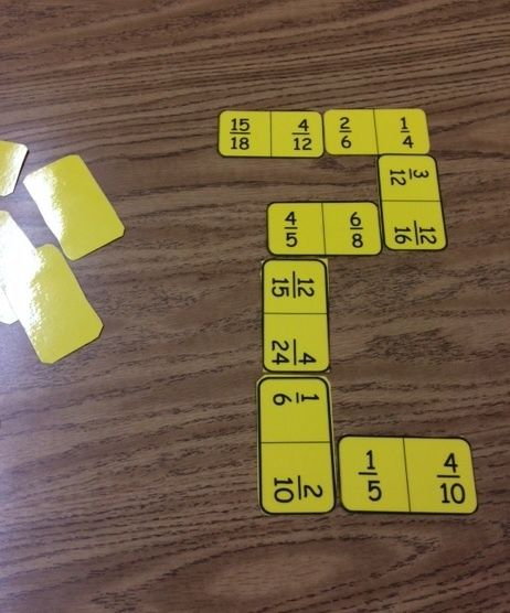 Fractions Dominos- FREEBIE ALERT