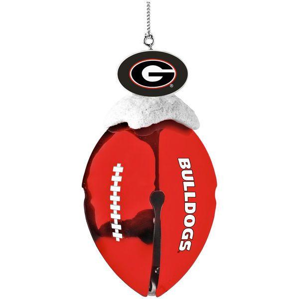 Georgia Bulldogs Football Bell Ornament
