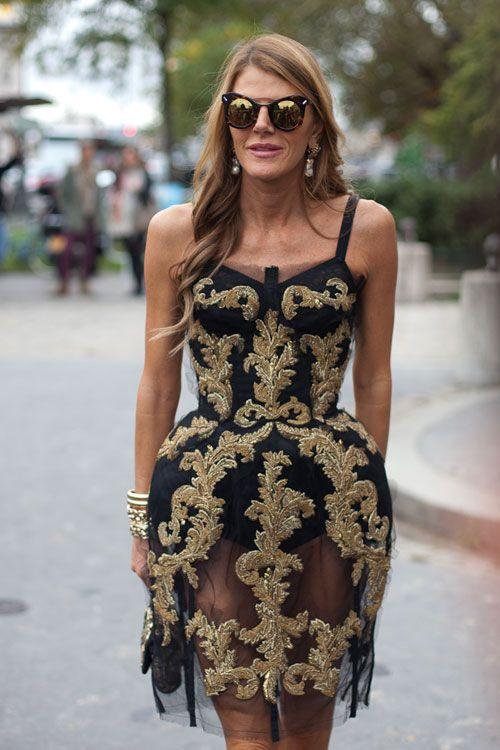 Anna Dello Russo, D  Street Style Spring 2013 - Paris Fashion Week Street Style - Harper's BAZAAR