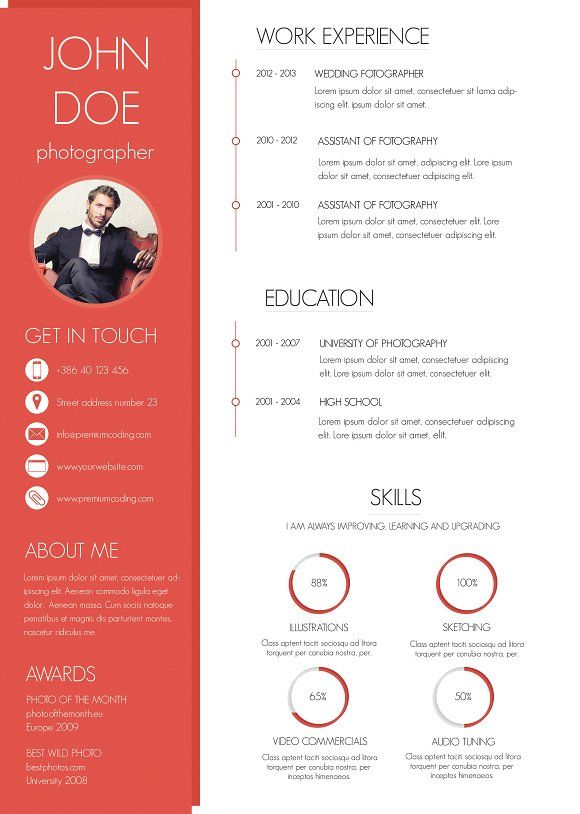 13 best CV images on Pinterest Resume templates, Cv template and - resumes by marissa