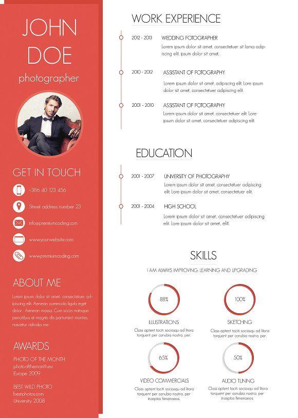 13 best CV images on Pinterest Resume templates, Cv template and - fiverr resume