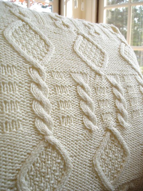 How to Knit Cable Knit Pillows