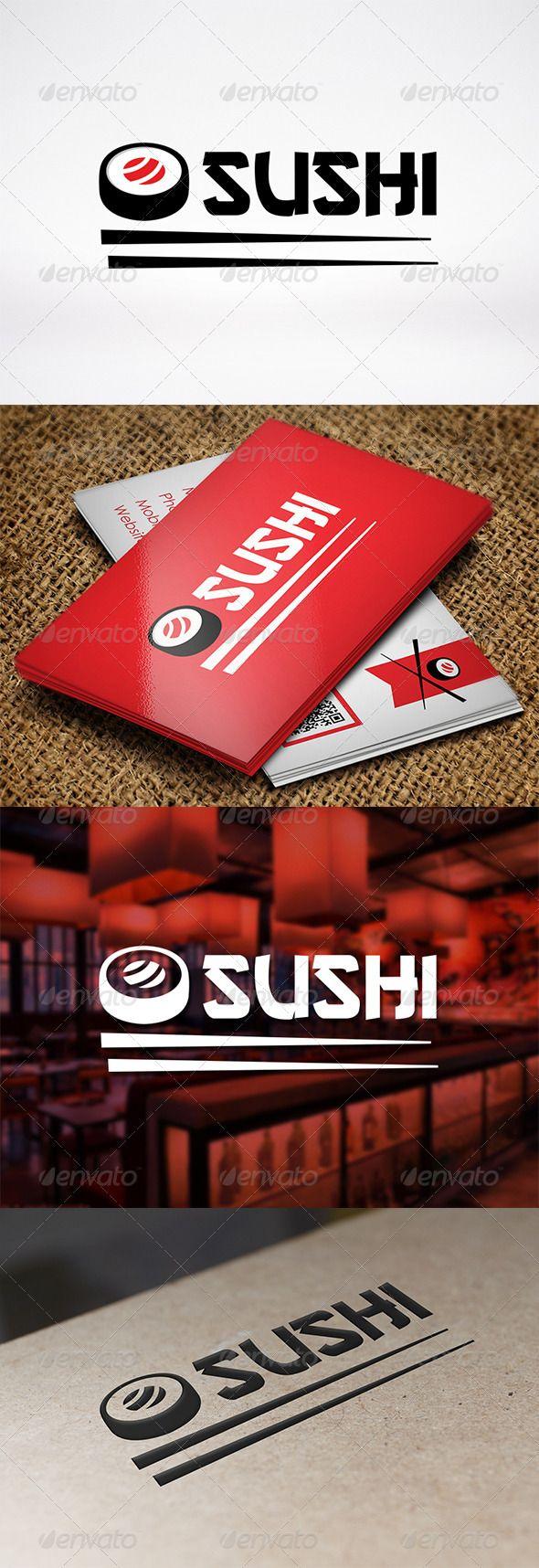 Logotipo para Restaurantes Japoneses y Sushi Bars.                                                                                                                                                                                 More
