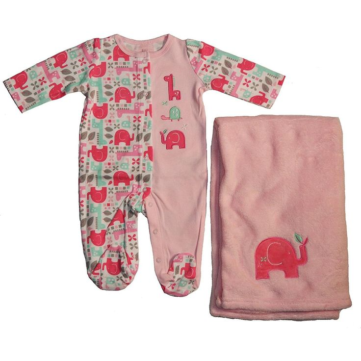 Baby Starters Pink Embroidered Cotton Sleep N Play And Plush Polyester Blanket