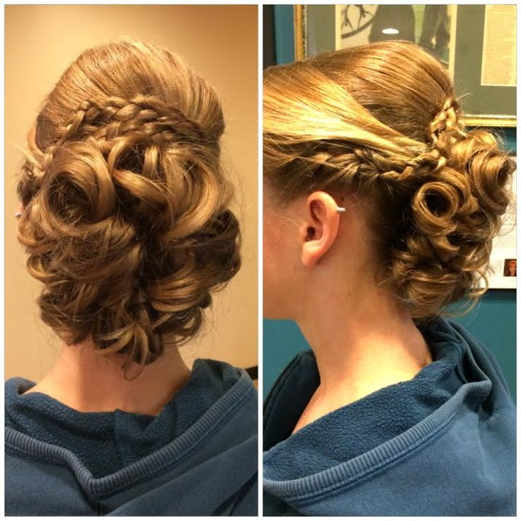 Braids and Curls and a beautiful up do by Marcie