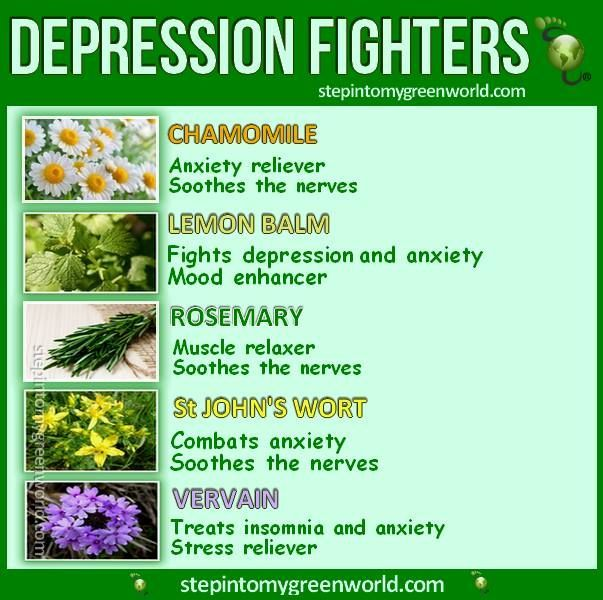 St. John's wort for depression. you can get it from organic stores.