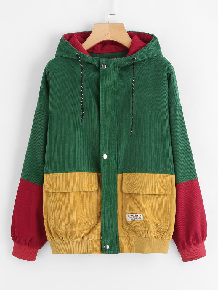 Shop Color Block Drawstring Hooded Jacket online. SheIn offers Color Block Drawstring Hooded Jacket & more to fit your fashionable needs.