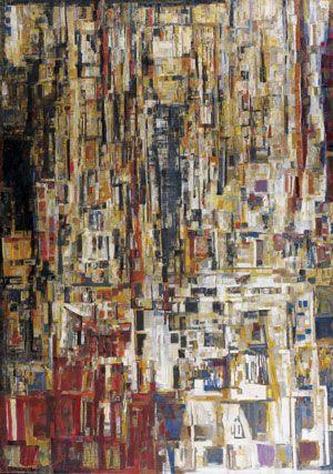Maria Helena Vieira da Silva (1908-1992) Saint-Fargeau, 1961-1965 Huile sur toile Signée et datée 65 en bas à gauche 162 x 114 cm Vendu 1 544 702 € le 22 octobre 2011 Record du monde
