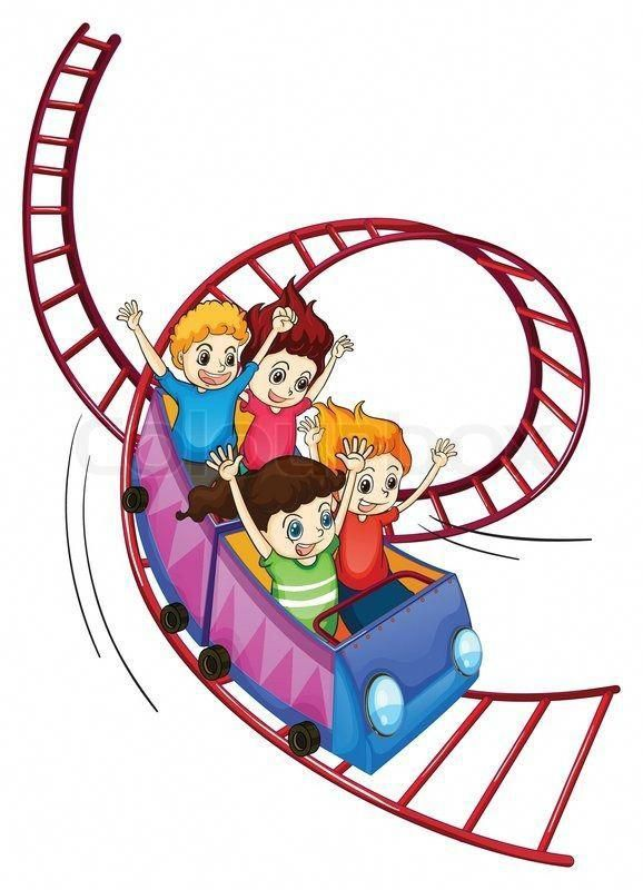 Stock Vector Of Brave Kids Riding In A Roller Coaster Ride Insomniainkids