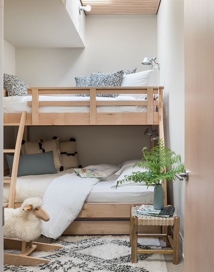 Custom Bunk Room Bunk Beds Light Wood Bunk Bed With Ladder