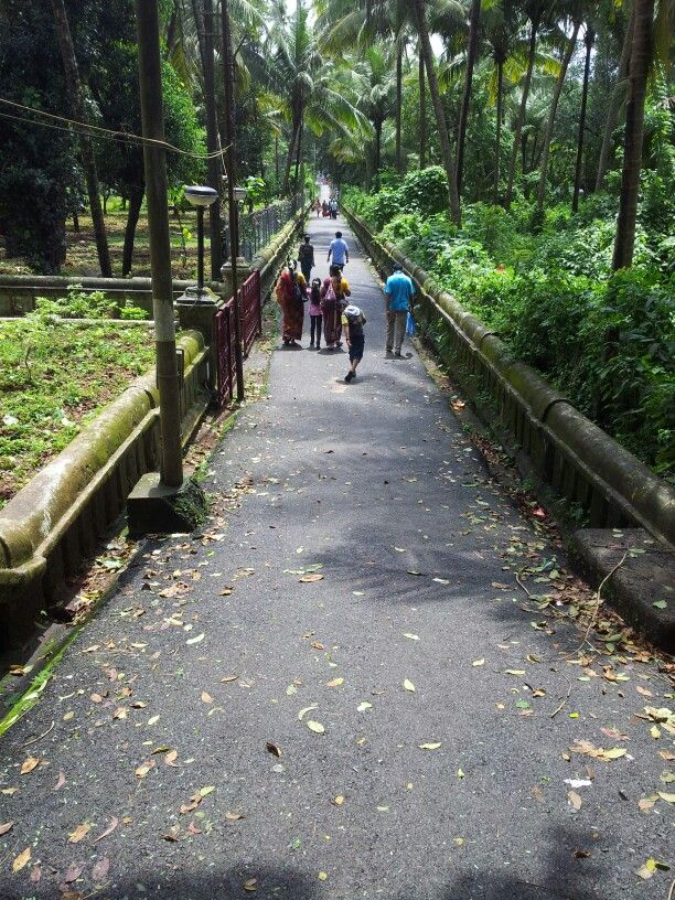 Pathway to mangeshi temple in Goa