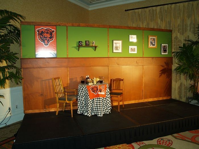 Fun stage set ....We recreated Da Bears from SNL.