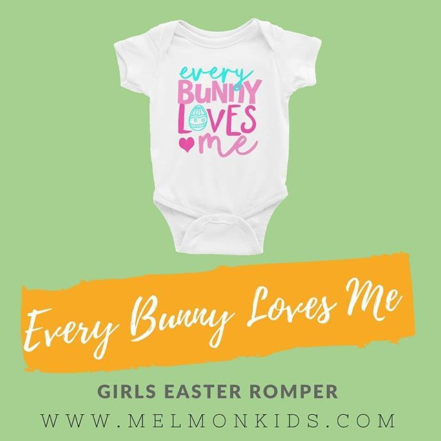 Cutest little outfit... Are your little ones looking forward to Easter coming?  baby bodysuit - http://ift.tt/2ozIK83