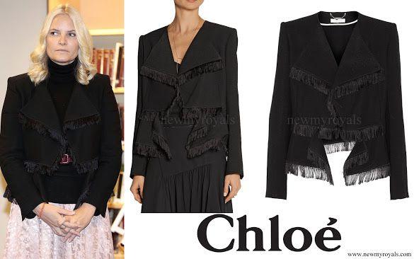 Chloe Fringed Jacquard Jacket
