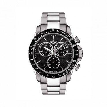 T1064171105100 Ανδρικό ελβετικό quartz ρολόι V8 της TISSOT με χρονογράφο, μπρασελέ από ατσάλι & μαύρο καντράν | Ρολόι ΤΣΑΛΔΑΡΗΣ στο Χαλάνδρι E-shop