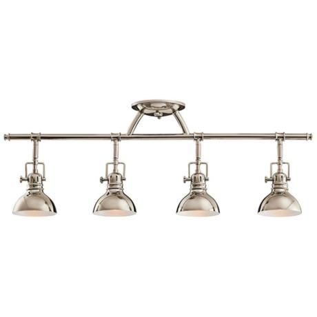 "Kichler Polished Nickel 31 1/2"" Wide Swivel Ceiling Fixture $239"