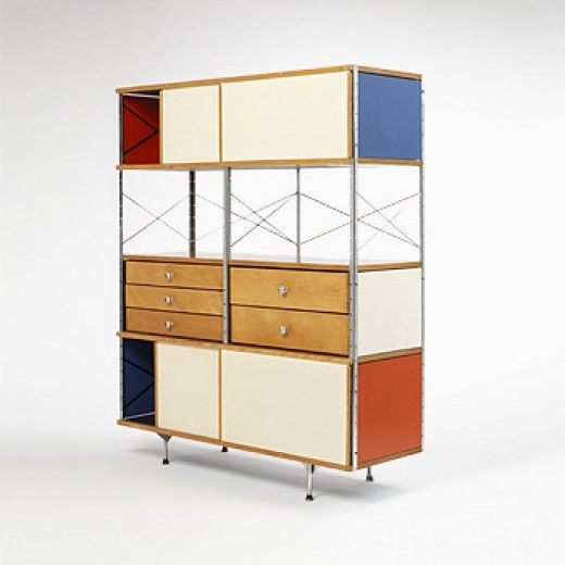 These guys know how to stack with style! Charles and Ray Eames / ESU 421-C