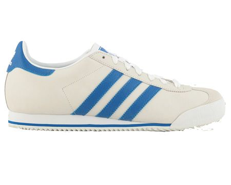 Adidas Kick White/Blue Leather Trainers Adidas Kick White/Blue Leather Trainers Colourway