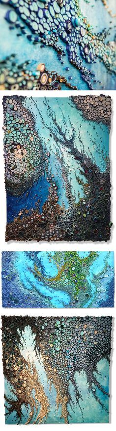 New Ocean Reefs Comprised of Rolled Paper by Amy Genser  Order it on http://Papr.Club as a Monthly Subscription
