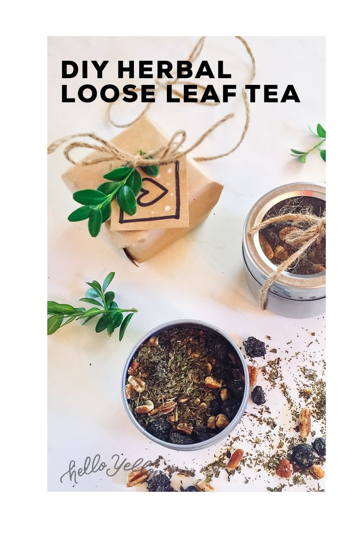 DIY Minted Blueberry Loose Leaf Tea. #LeonsHelloHoliday
