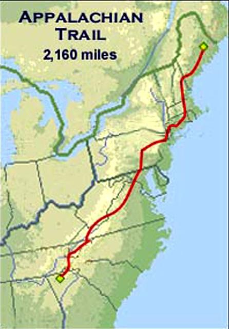 The Appalachian Trail (AT). Someday I will hike the entire length of this trail...Bucket List!