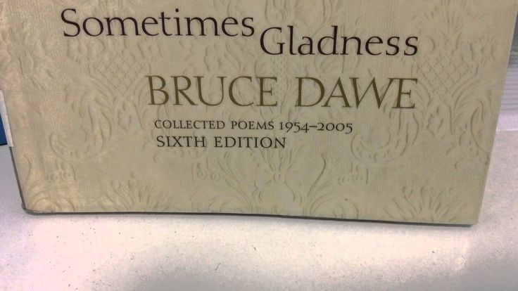 bruce dawe poetry Bruce dawe is considered to be one of australia's most influential poets of the 20th century dawe's poems capture australian life in numerous ways, whether it is our passion for afl in life-cycle or our reckless nature towards war as in homecoming.