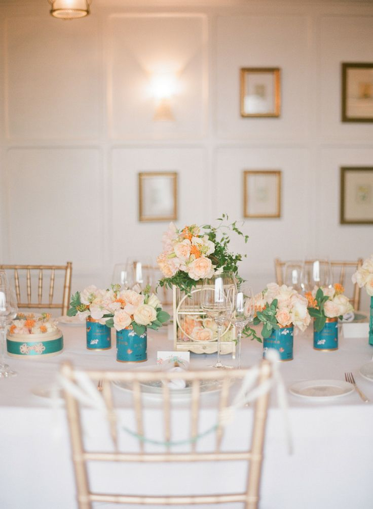 Chic rose and blue party