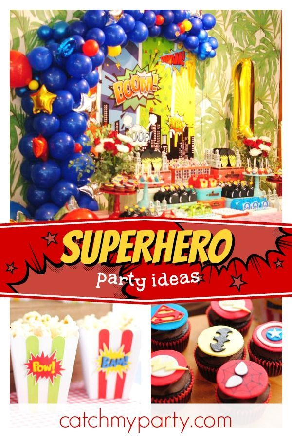 Superheroes Birthday Matia S Marvel And Superman 1st Birthday